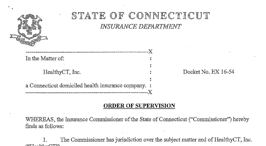 State deems insurance co-op, HealthyCT, financially unstable
