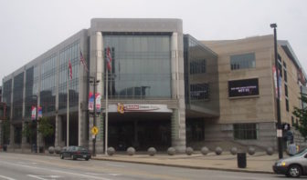 The Quicken Loans Arena in Cleveland, where the GOP convention will convene Monday.