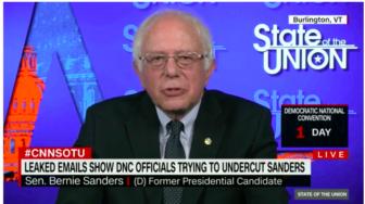Bernie Sanders responding to the email hack Sunday 0 CNN.