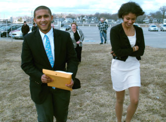 State Rep. Aundre Bumgardner, R-Groton, on the campaign trail.