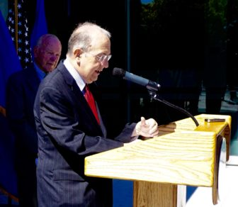 Senate President Pro Tem Martin M. Looney in New Haven on Tuesday.