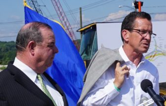 From right, Gov. Dannel P. Malloy and Waterbury Mayor Neil M. O'Leary.
