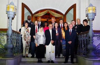 U.S. Rep. Rosa DeLauro, at far left, and other House Democrats meet with Afghan President Ashraf Ghani.