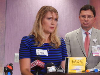 Jill Negro of Wallingford has two children who have food allergies that require her family to own EpiPens.