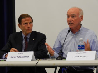 U.S. Sen. Richard Blumenthal, left, and U.S. Rep. Joe Courtney, right