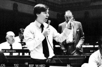 Ward during a House debate