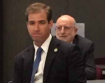 Hartford Mayor Luke Bronin and Corporation Counsel Howard Rifkin