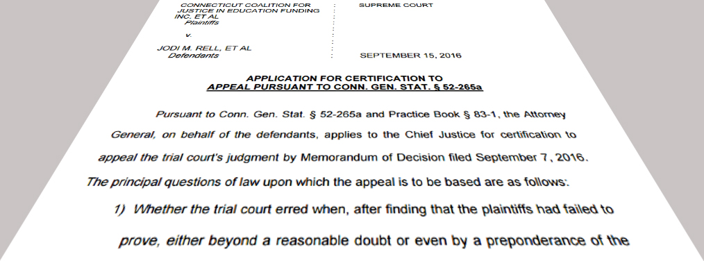 CCJEF v. Rell appeal more dangerous than status quo