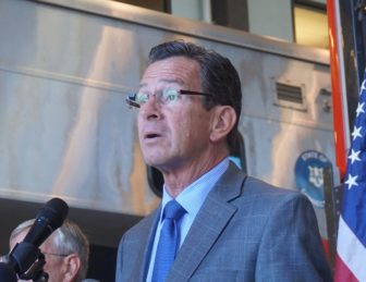 Gov. Dannel P. Malloy says the CCJEF appeal decision belongs to the attorney general.