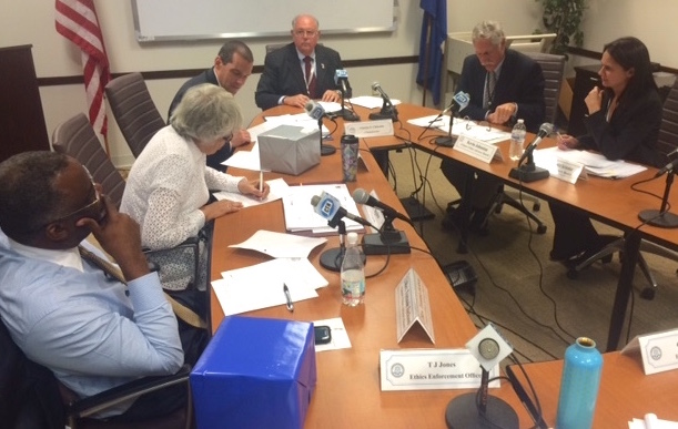 The Citizens' Ethics Advisory Board meets Thursday on the case of Insurance Commissioner Katharine Wade.