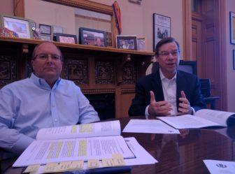 State auditors John Geragosian, left, and Robert Ward