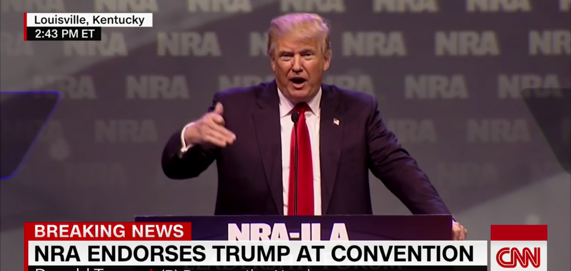 The NRA's embrace of Tyrant Trump