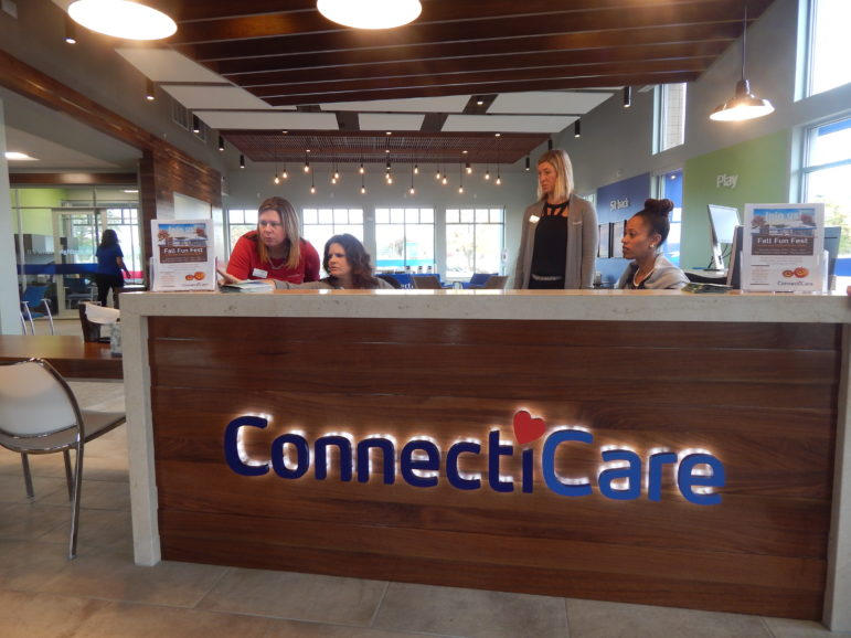 This is a picture of ConnectiCare's retail store in Manchester, which opened Oct. 14.