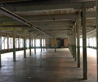 Some of the vast floor space inside Hilliard Mills in Manchester