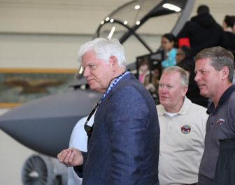 U.S. Rep. John Larson at Pratt & Whitney.