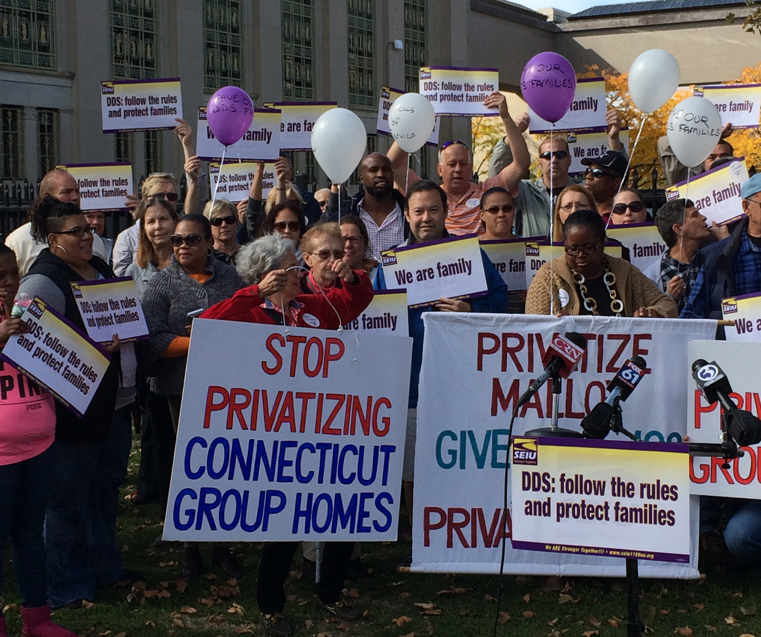 State employee unions suing to block group home privatization