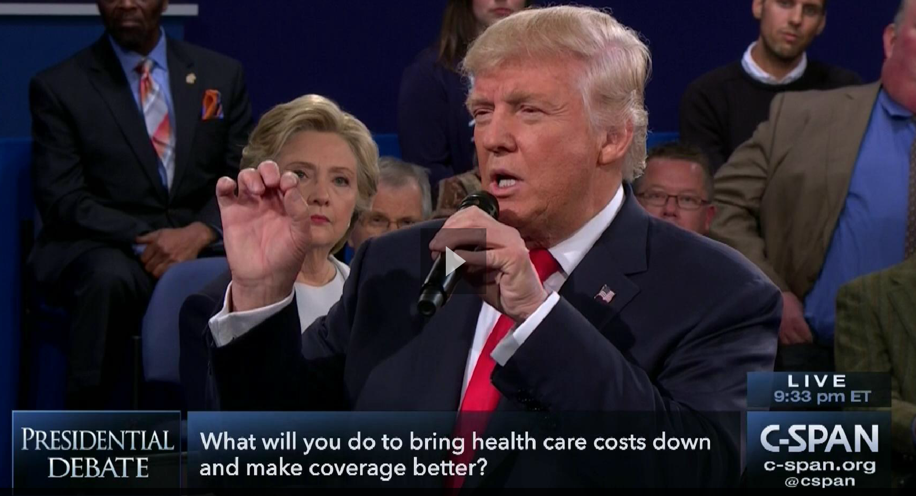 Trump's debate claim on health care costs: It depends what you mean by 'cost'