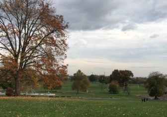 Colt Park in Hartford, where Larson proposes an underground cloverleaf intersection for I-91 and I-84.