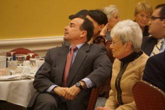 Mayor Joe Ganim and Lt. Gov. Nancy Wyman.