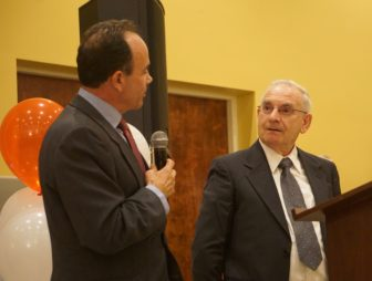 The mayor and the chairman, Joe Ganim and Mario Testa.