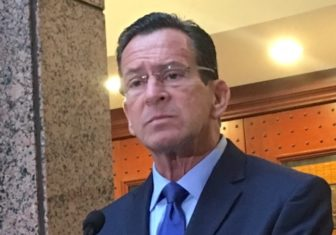 Gov. Dannel P. Malloy discusses his upcoming state budget proposal with reporters.