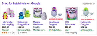 The vigorous online market for Hatchimals.