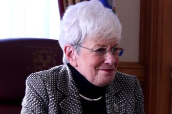 Lt. Gov. Nancy Wyman in her office.