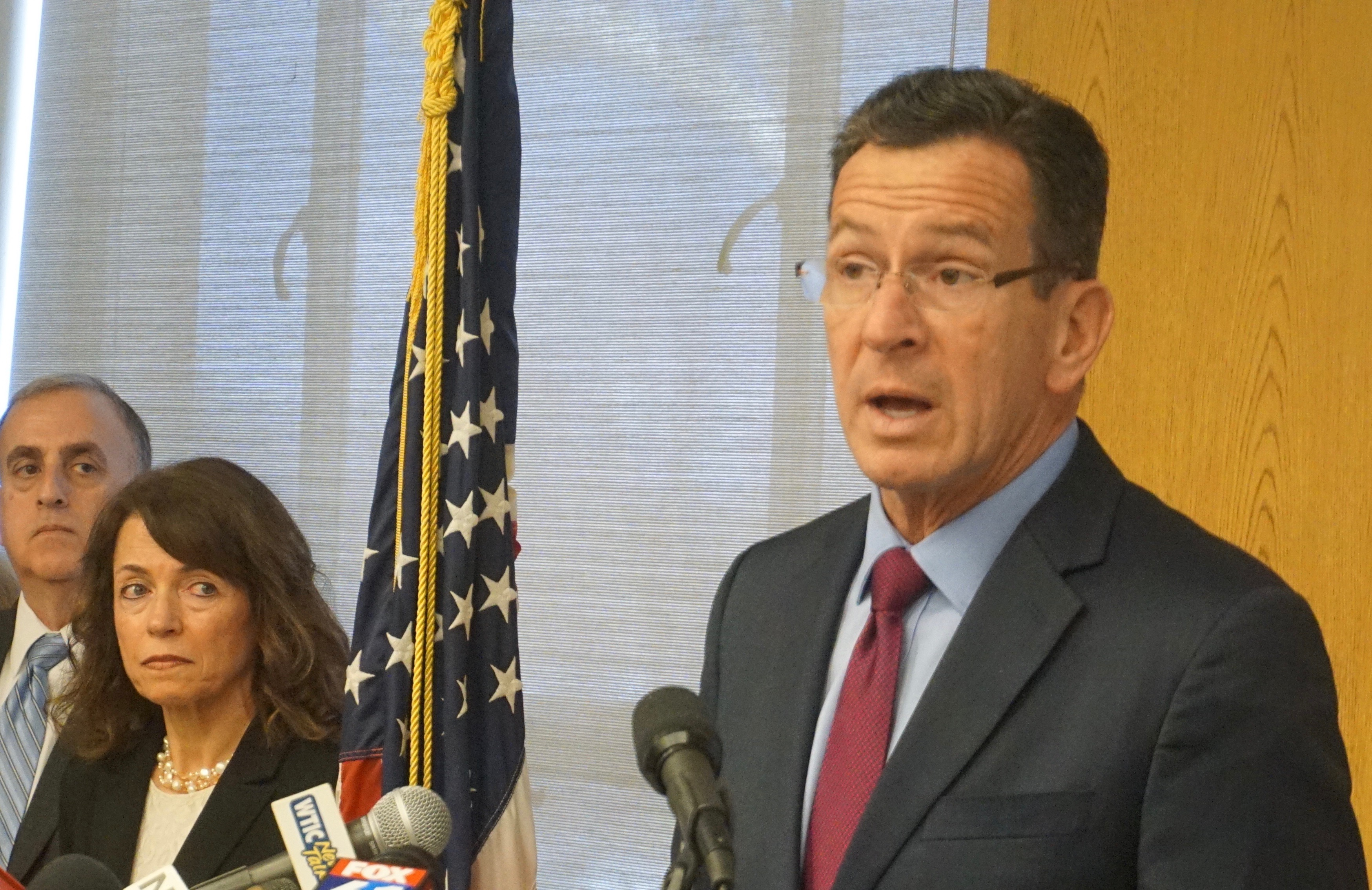 Malloy goes to DMV for some good news, seriously