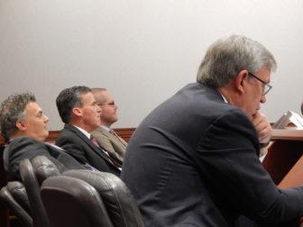 Legislators at the training, from left: Reps. Gary Byron, Mark Tweedie, Jeff Currey and Representative-elect Scott Storms.