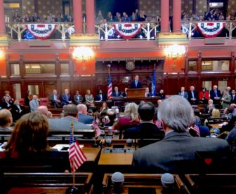 Gov. Dannel P. Malloy delivers his state of the state address.