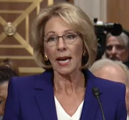Murphy presses DeVos on guns in schools