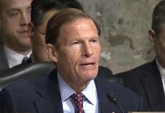 en. Richard Blumenthal questioning Gen. James Mattis at Thursday's hearing.