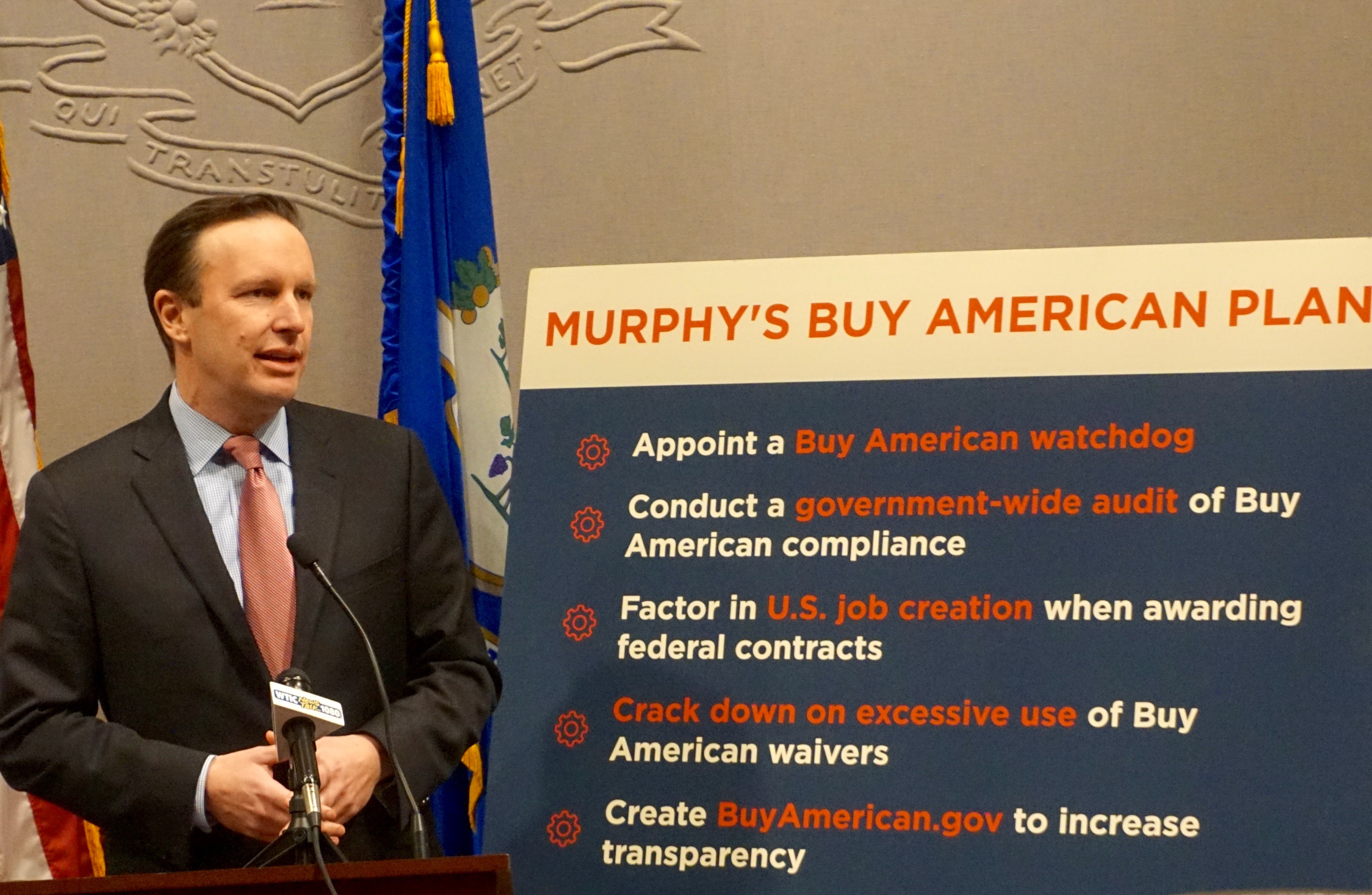 Murphy sees common cause with Trump on 'Buy American'