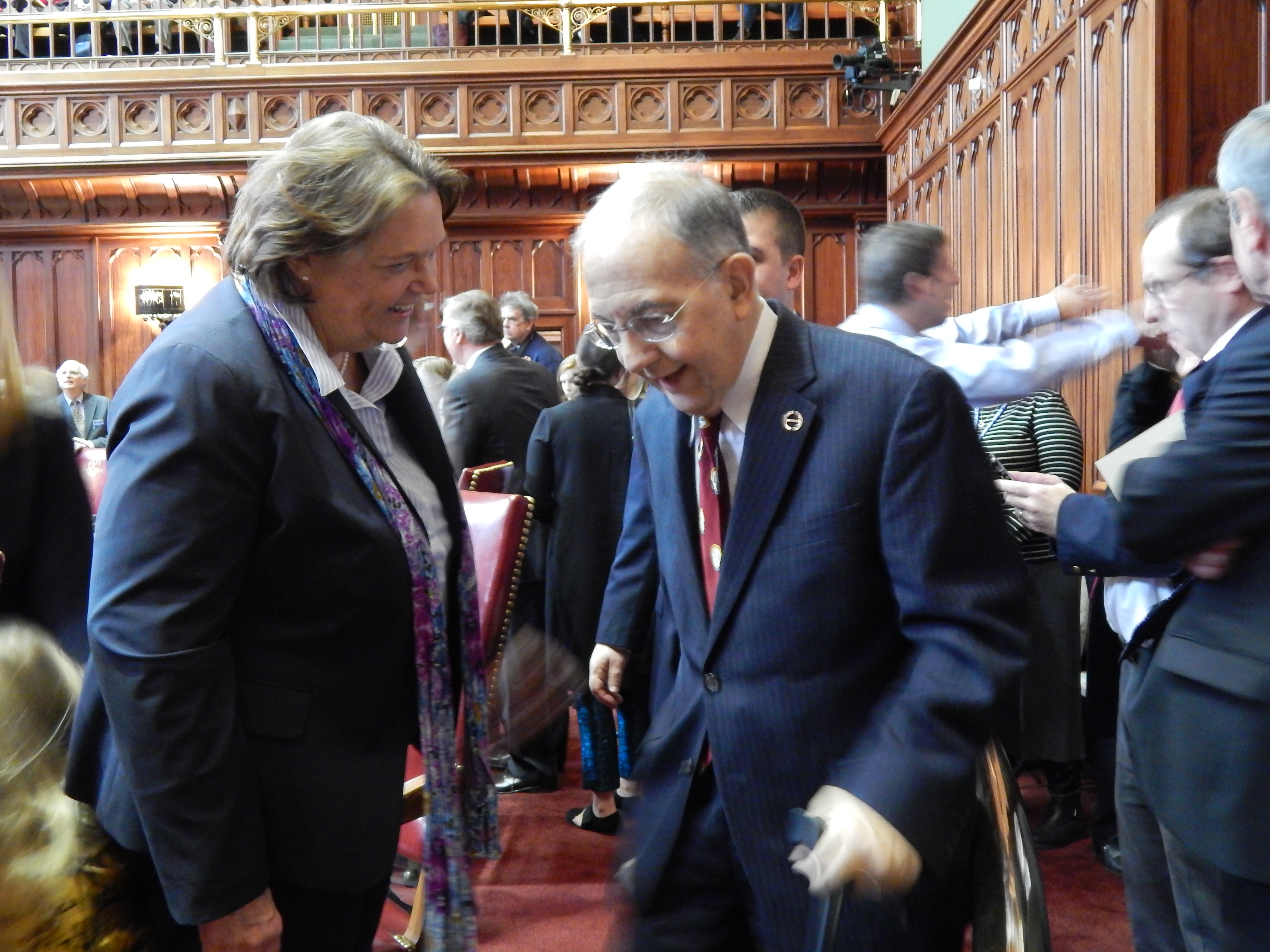 Senators face a tough session but open with collegiality