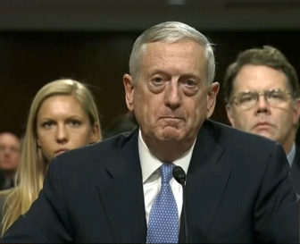 Retired Marine Gen. James Mattis at his confirmation hearing before the Senate Armed Services Committee.