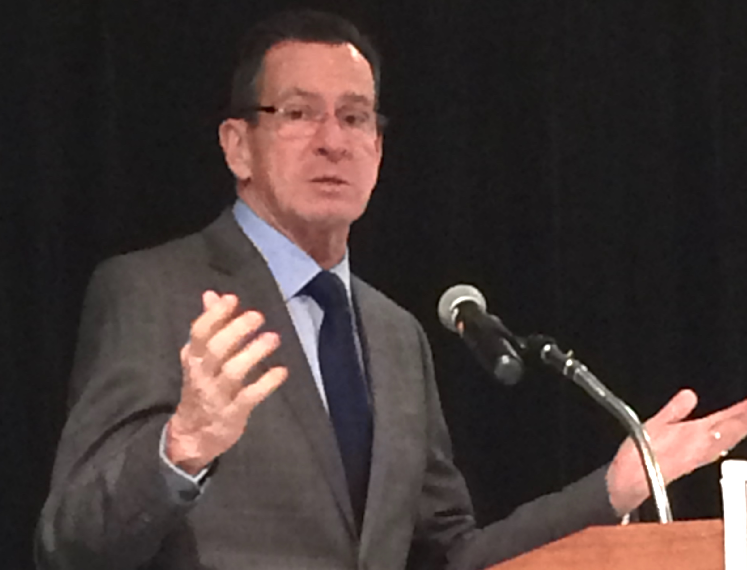 Malloy begins making a case for changes to local school funding