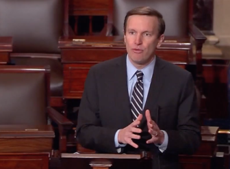 Sen. Chris Murphy argues against repeal of the Affordable Care Act on the Senate floor Thursday.
