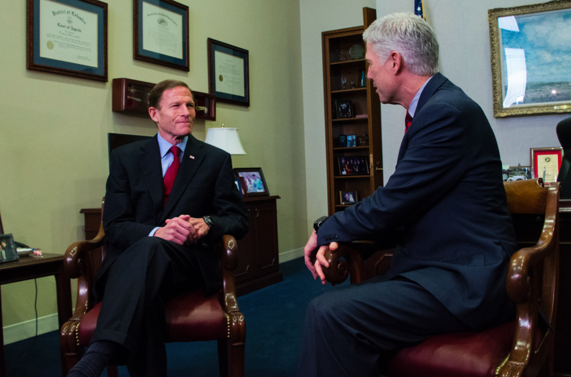 Gorsuch tells Blumenthal Trump's attacks on judge are 'disheartening'