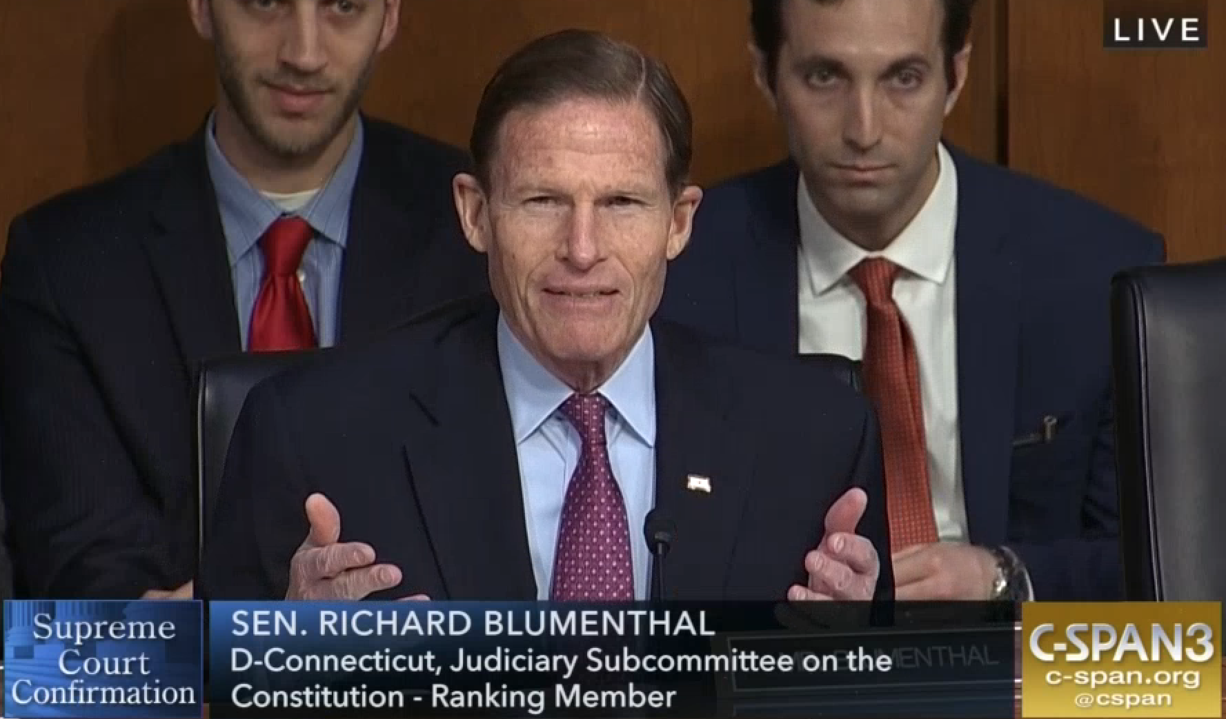 Blumenthal presses Gorsuch on key cases, but judge won't be pinned down