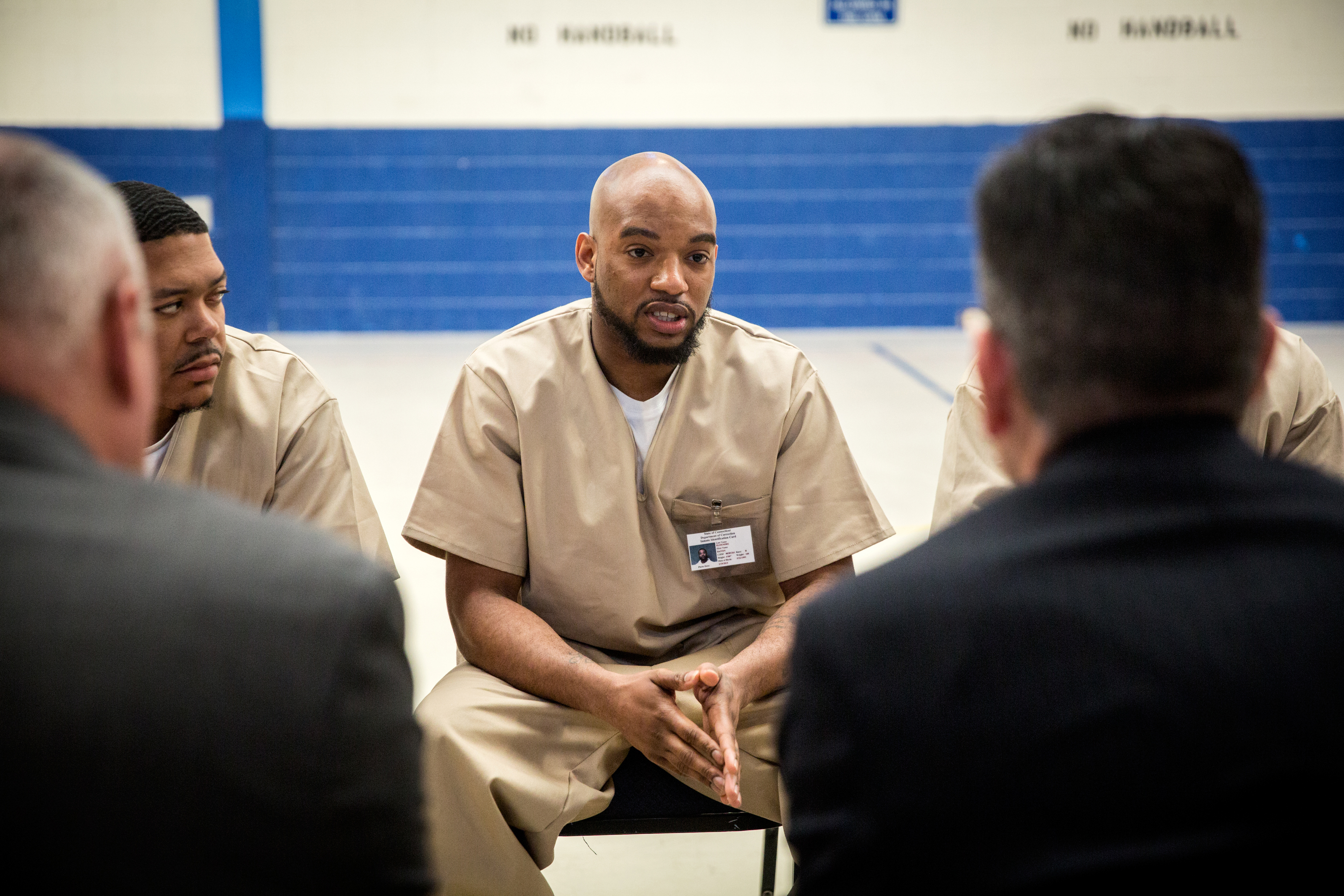 Young inmates tell malloy about a new way in an old prison