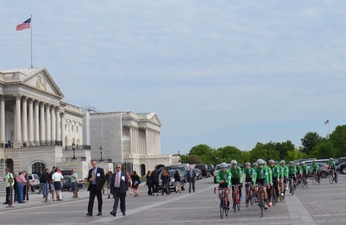 This time, Newtown bike riders rolling away from Congress