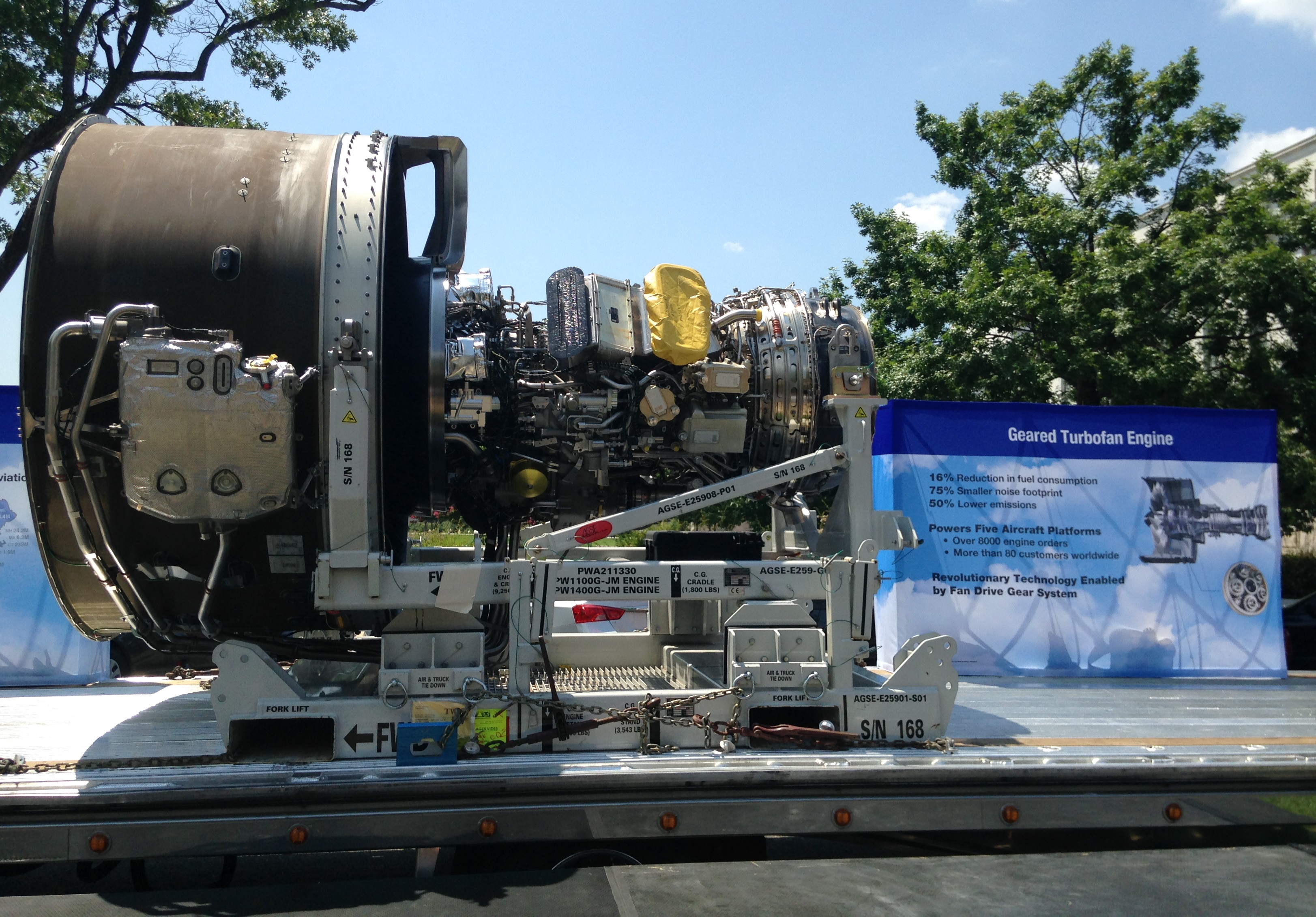 Pratt & Whitney showcases engine on Capitol Hill