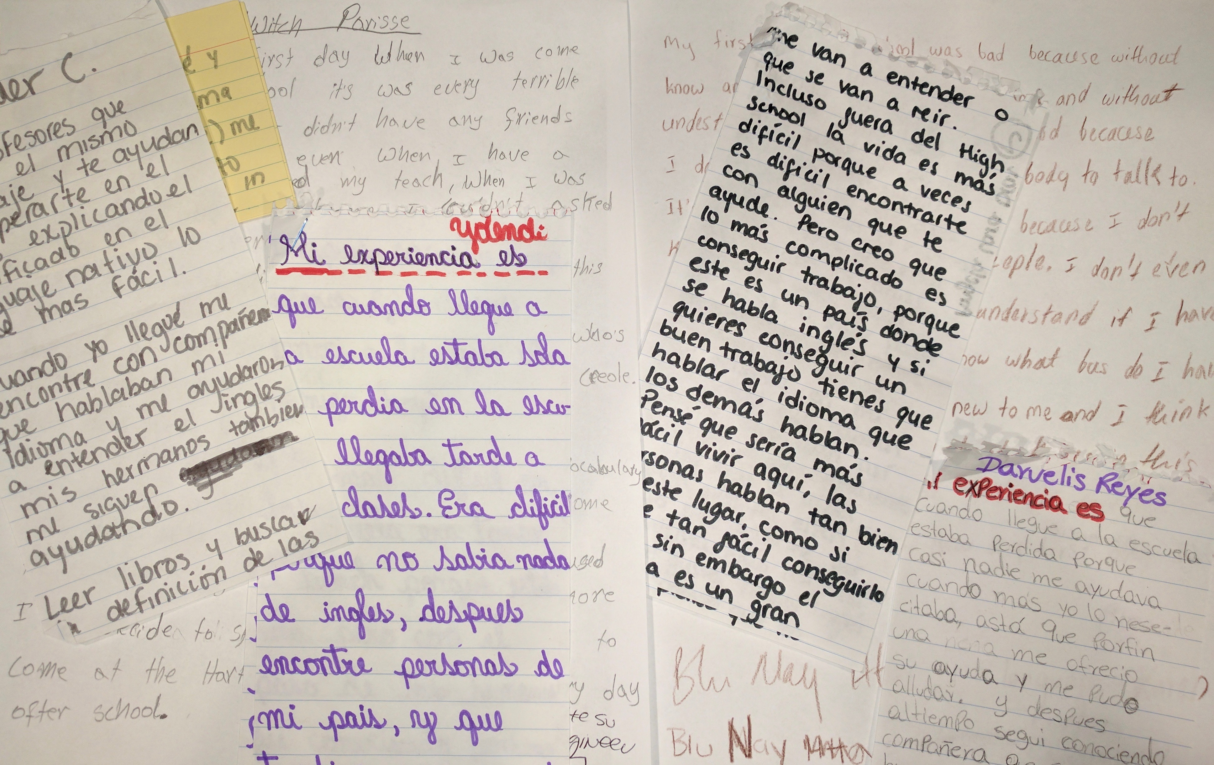 In their words: English learners share their stories about school