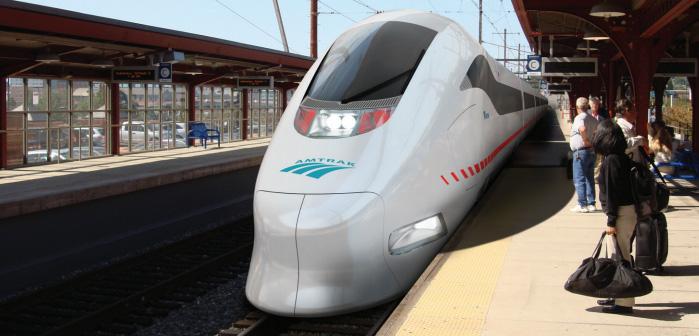High speed rail runs over Connecticut