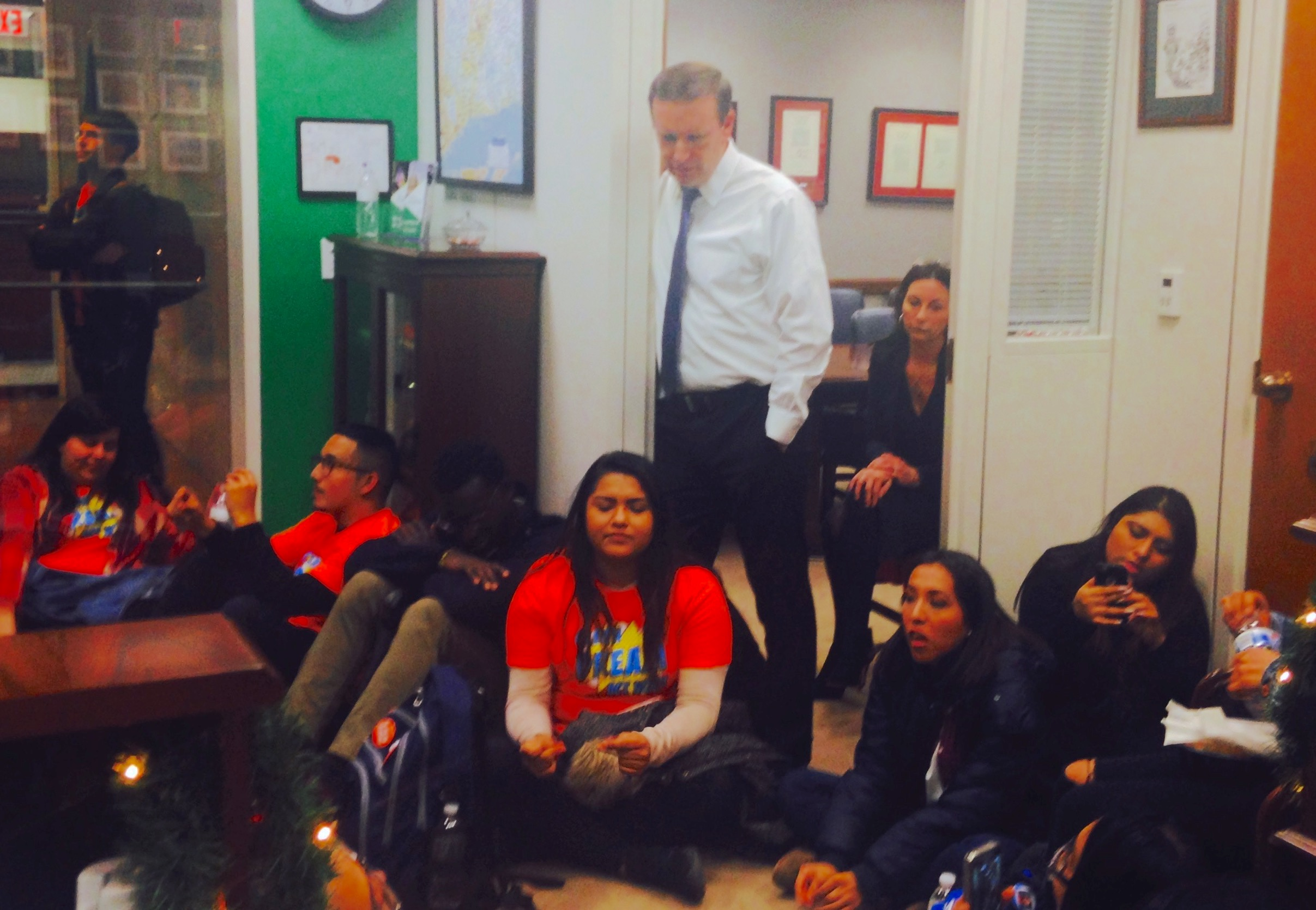 CT Dreamers seeking commitment stage sit-in at Murphy's office