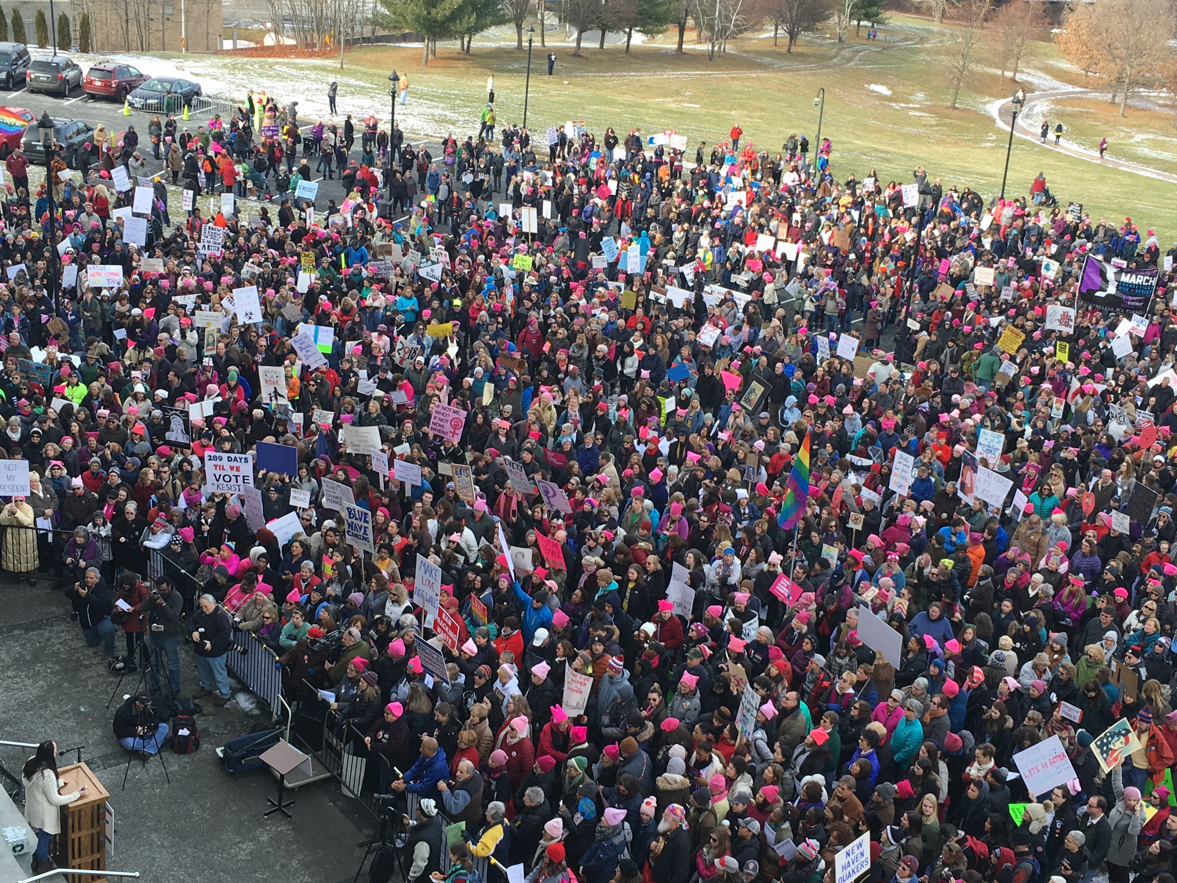Rally to empower women draws thousands to the Capitol