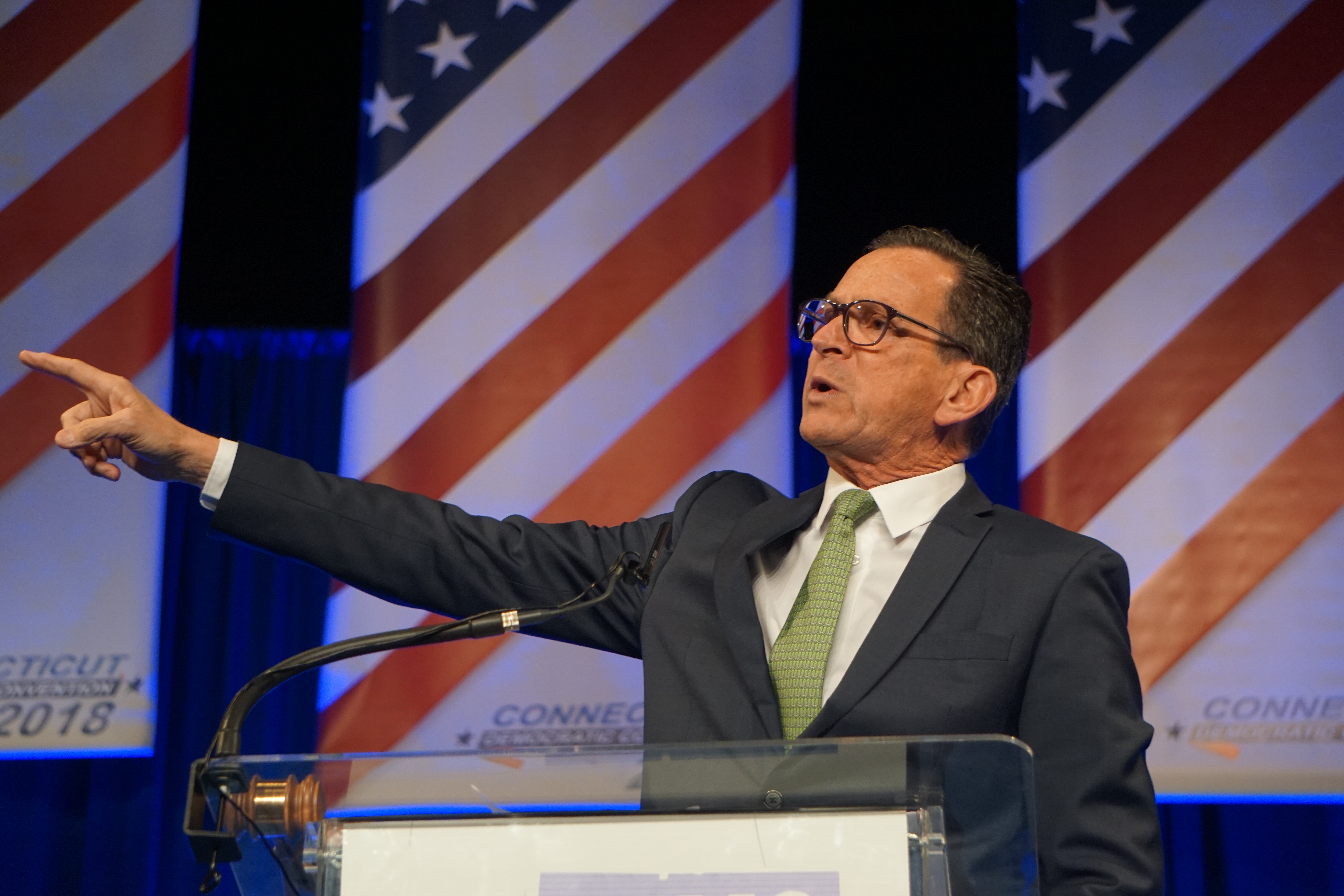 Malloy delivers a pep talk and a heartfelt farewell