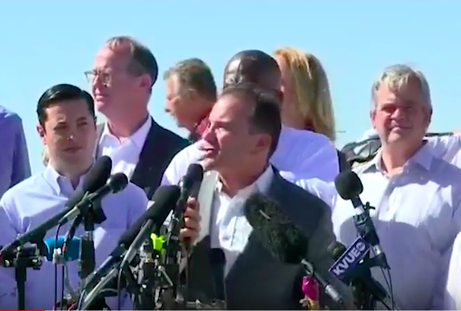 On city dime, Ganim pops up in Texas for immigration protest