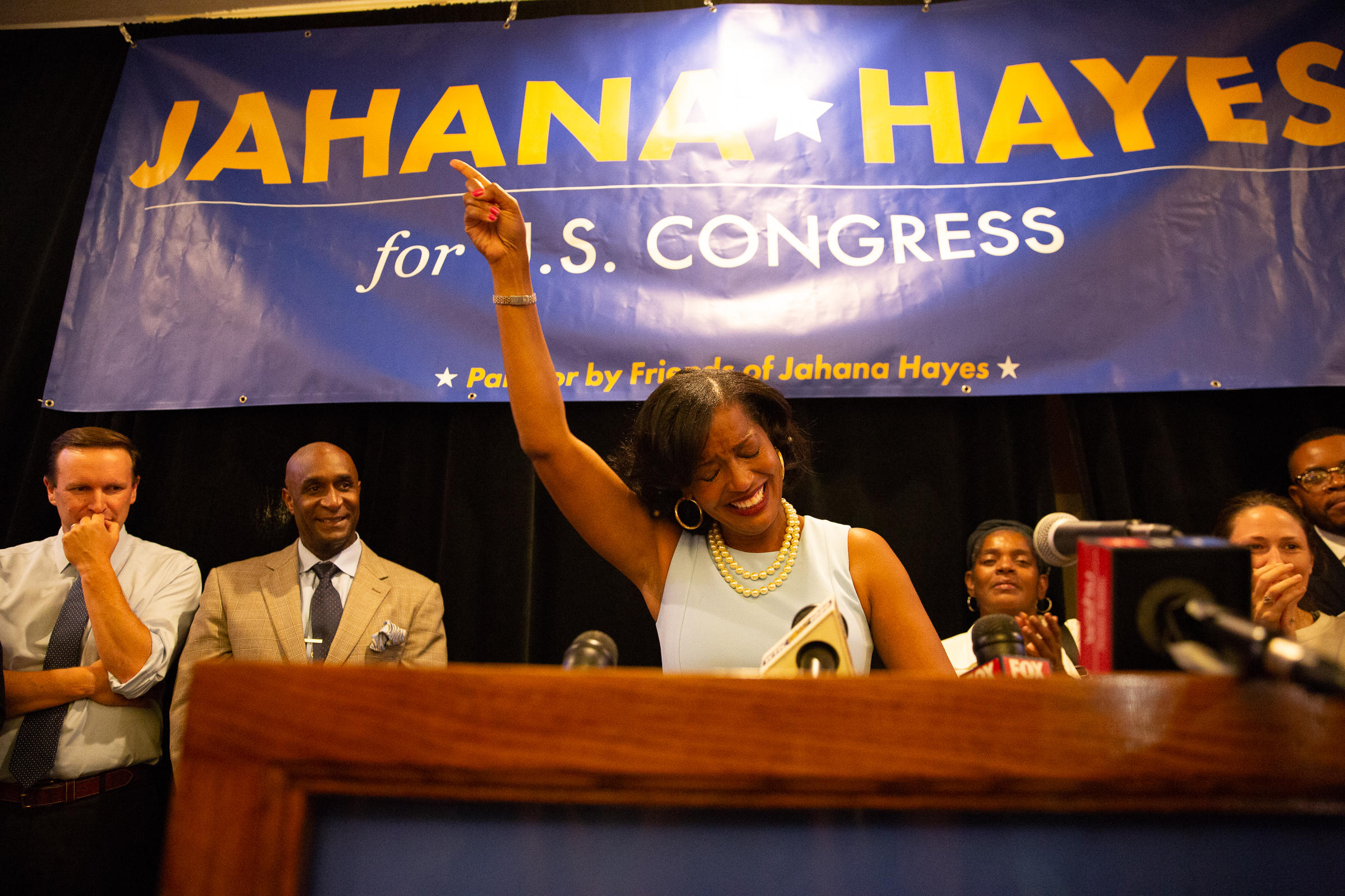 Hayes focuses on education and gun control — not drama