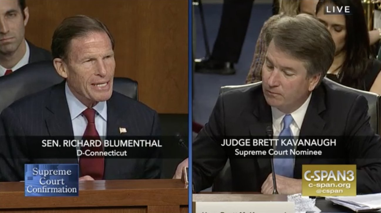 Blumenthal releases 'confidential' emails, grills Kavanaugh on ACA, Mueller probe